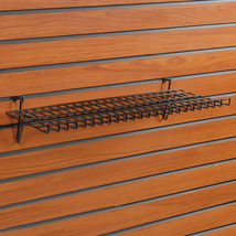 Heavy Duty Slatwall Shelf 23 1/2 In Wide X 9 In Deep With 1 In. Lip