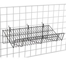 Black Slanted Gridwall Shelf 12 in. W x 24 in. L