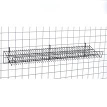 Black Gridwall Slanted Shelf 12 in W x 48 in L