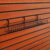 Black Slatwall Shelf 24 in X 3 1/2 in.