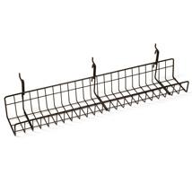 Black Straight Gridwall Shelf 3 1/2 in. W x 24 in. L