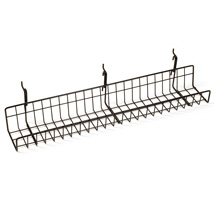 Black Straight Gridwall Shelf 3 1/2 in. W x 24 in. L