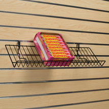 Black Angled Slatwall Shelf - 23 in. x 6.5 in.