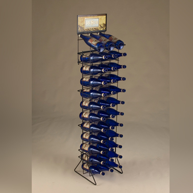 Floor Standing Wire Wine Rack - Displays 3 Cases Of Wine