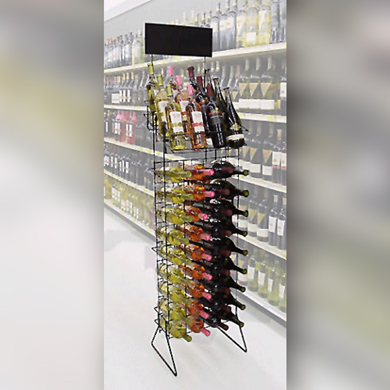 Floor Standing Wire Wine Rack - Displays 4 Cases Of Wine