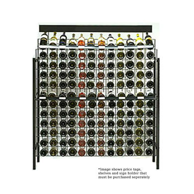144 Bottle Wire Grid Wine Display Rack