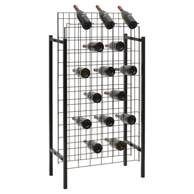 72 Bottle Wire Grid Wine Display Rack