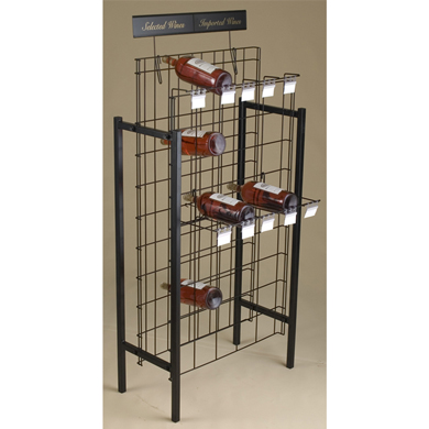 50 Bottle Wire Grid Magnum Bottles Wine Display Rack