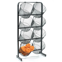Double Basket Display with 15 1/2 in. Extra Large Mesh Baskets