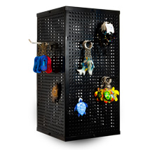Metal Pegboard Counter Spinner Display - Black