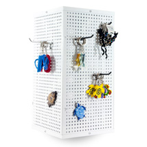 Metal Pegboard Counter Spinner Display - White