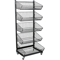 5 Basket Metal Merchandiser Display