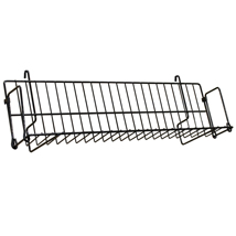 "Black Grid Shelf 24""W X 3""D"