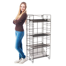 Four Shelf Rack With 2 Clipping Strips