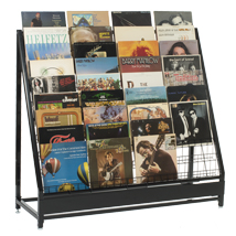 Vinyl Record Rack For 252 Lps - Black
