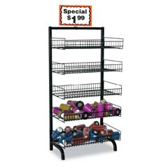 5 Basket Wire Rack
