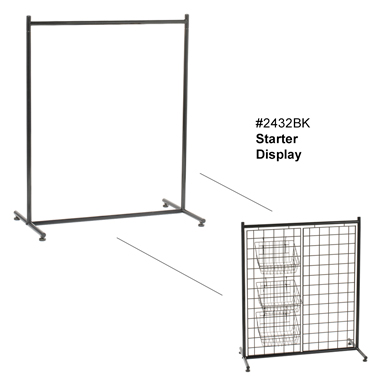 Portable Garment Rack System - Starter Display