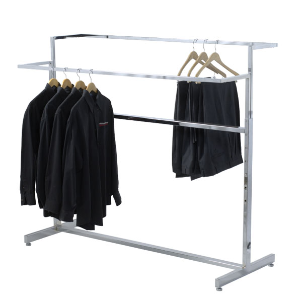 Double Bar Apparel Rack