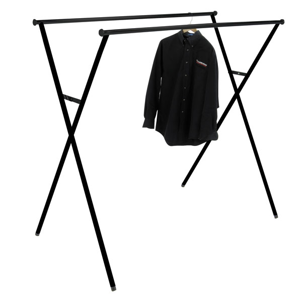 Portable Double Rail Clothing Rack