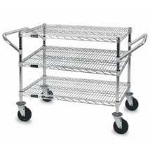 3 Shelf Wire Utility Cart