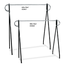 Black Beauty 48 in. H Single Rail Clothing Rack
