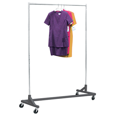 Rolling Z Rack Clothing Rack