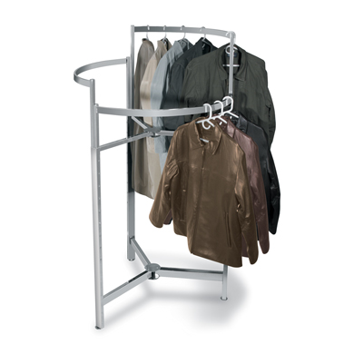 36 Inch Round Circular Clothing Rack with height adjustable bars