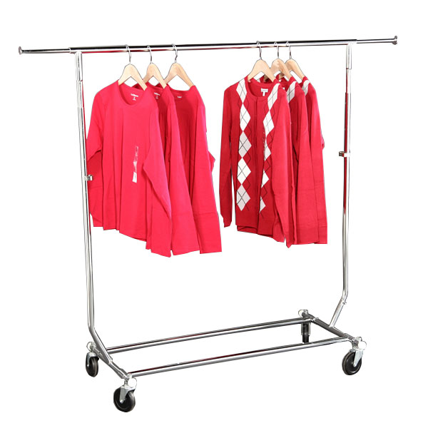 Single Rail Folding Clothing Rack   Rolling Rack