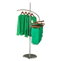 Chrome Spiral Clothing Rack - 29 Ball