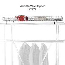 Wire Topper for Double Rail Apparel Rack