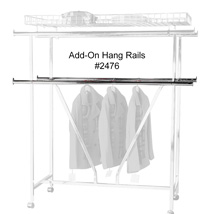 Set of Two Add-on Hang Rails for Double Bar CLOTHING Rack