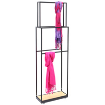 Euro-Style Scarf Display Rack