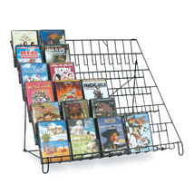 6 Tier Countertop Wire Literature Display Wire Rack - 29 In. Wide