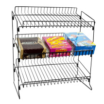 Wire Countertop Snack Display With 3 Shelves