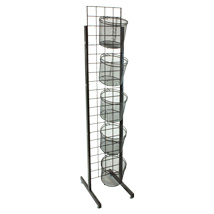 5 Mesh Basket Grid Standing Display