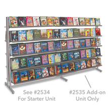 48 In. Double Sided Island Display With 10 Shelves