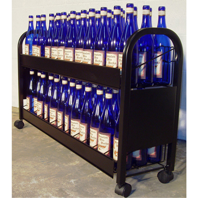 Rolling 6 Case Wine Display Rack