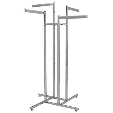 4 Way CLOTHING Rack with 4 Straight Arms
