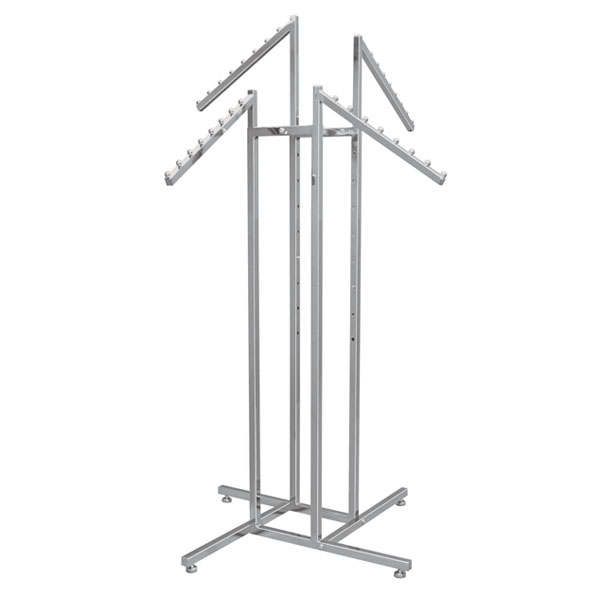 4 Way Garment Rack With 4 Slant Arms