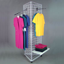 Triangle Grid Display With Casters