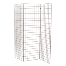 Gridwall 3-Panel Kiosk Display