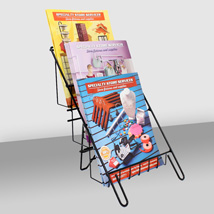 3 Tier Countertop Magazine & Literature Display
