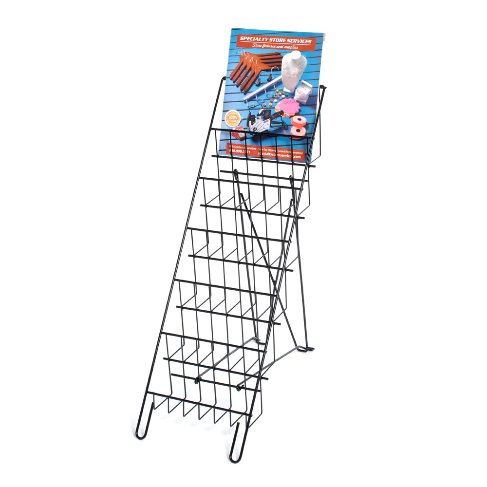 6 Tier Wire Countertop Literature Rack - 8.5 In. Wide