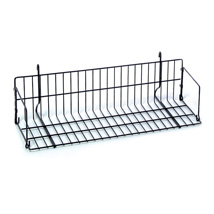 Black 10 in. D Angled Grid Shelf