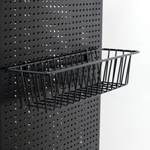 Black Pegboard Basket - 12 1/2 In. L  X 3 In. D X 4 In. W