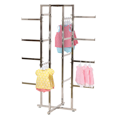 Folding Lingerie Display Rack - 4 Way