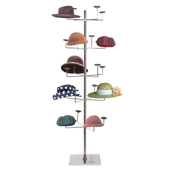 Floor Standing Hat Display - Millinery Rack