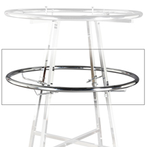 42 In. Add-On Ring For Round Apparel Rack - Chrome
