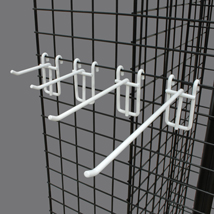 White Grid Screen Hooks