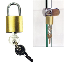 Mini Lock with Keys for Glass Cube Displays